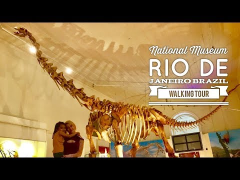 The National Museum Rio De Janeiro Brazil Walking Tour Before the Fire (Museo Nacional)