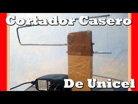 PRACTICO CORTADOR DE UNICEL CASERO