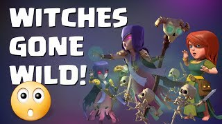 Clash of Clans - WITCHES GONE WILD - 11 WITCH SLAP ATTACKS FROM ONE WAR. MUST SEE POWER COMBO !!!