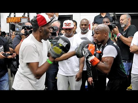 A LOOK BACK AT THE AMAZING MITT WORK OF ROGER MAYWEATHER WITH FLOYD MAYWEATHER JR - RIP ROGER