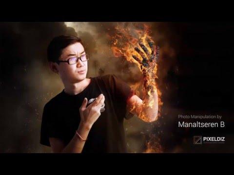 Fire Photo Manipulation | Speed Art