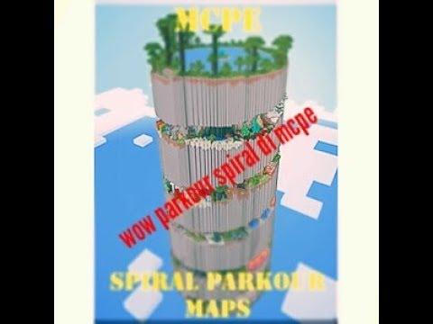 Parkour spiral di mcpe mudah bgt 😂 - mcpe parkour #1