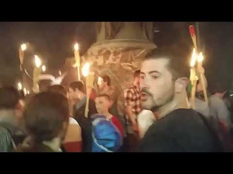 #UniteTheRight rally marches while chanting blood and soil (part 2) ~ Charlottesville, Va  (8-11-17)