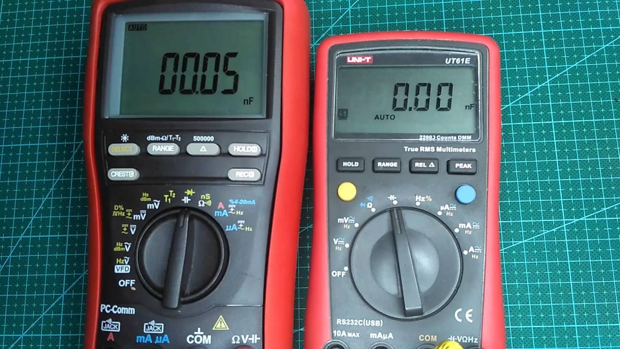 Brymen BM869s VS UNI-T UT61E Capacitance speed test by Sairus
