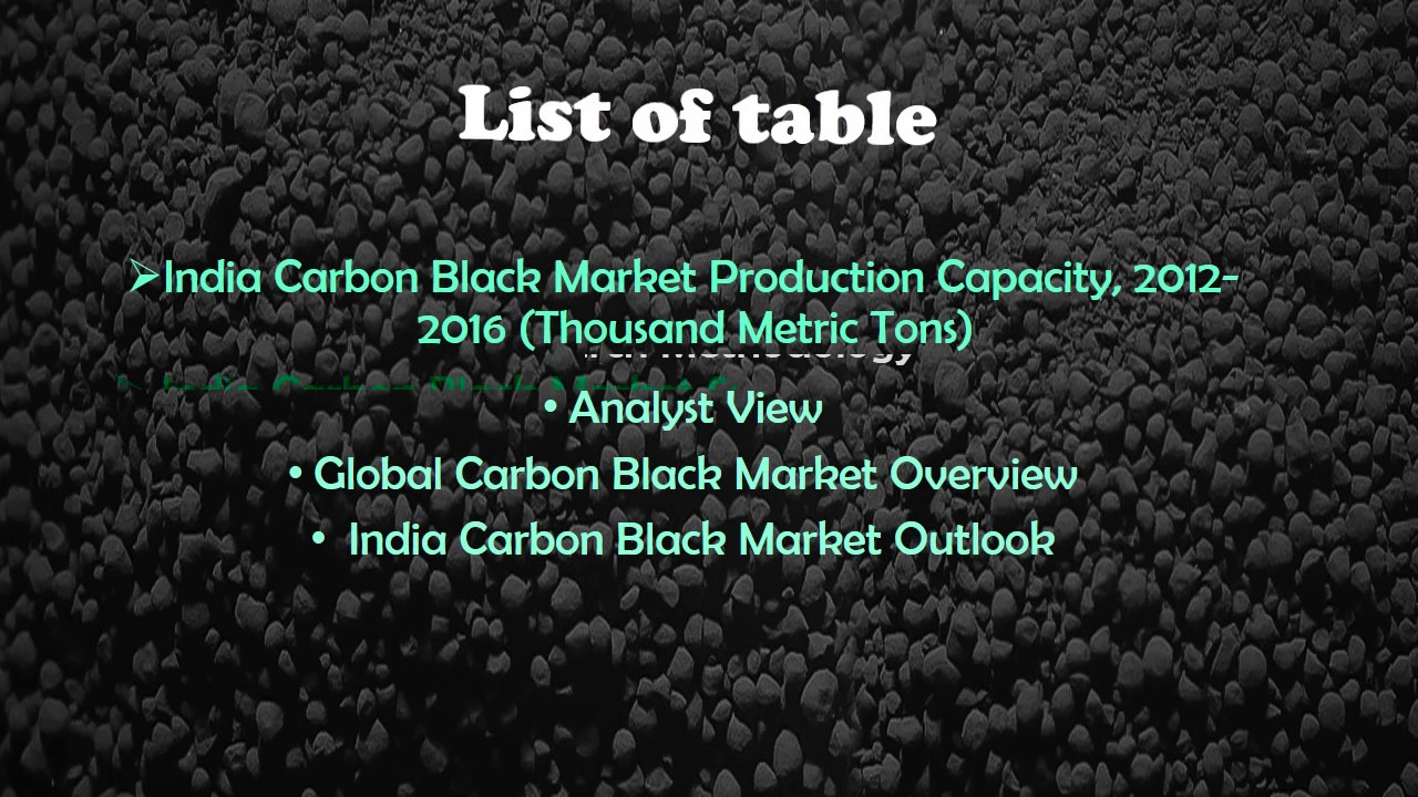 Chemical Market Report | Indian carbon Black market forecast | Jsb Market  Research