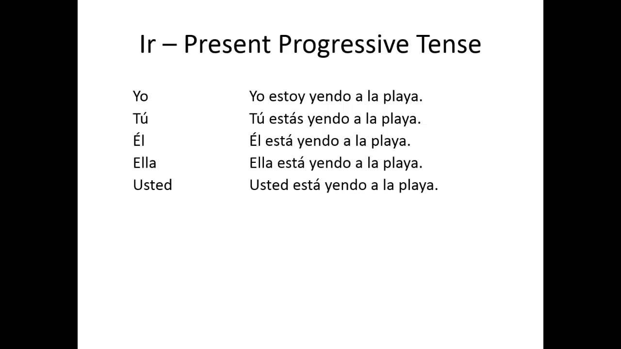 Ir - Present Progressive Tense - YouTube