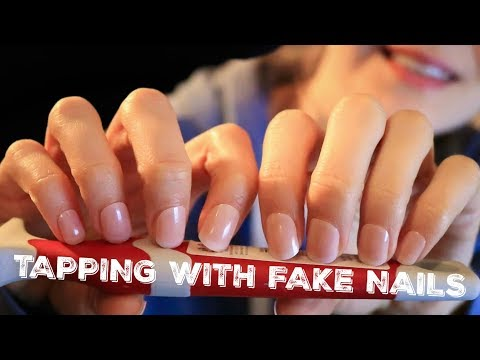 ASMR TAPPING WITH FAKE NAILS