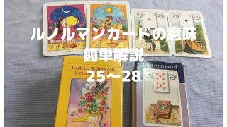 【ルノルマンカード】カードの意味簡単解説 25-28