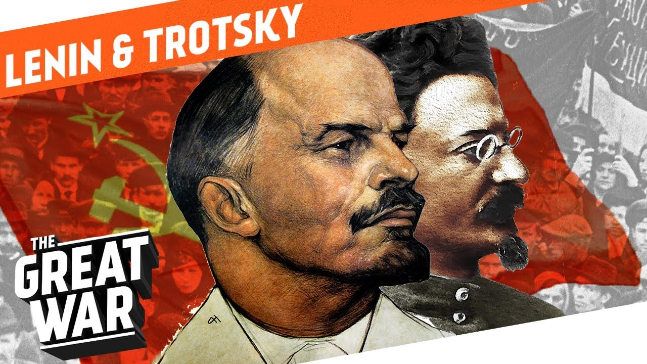 Image result for 1917 Lenin and Trotsky  images