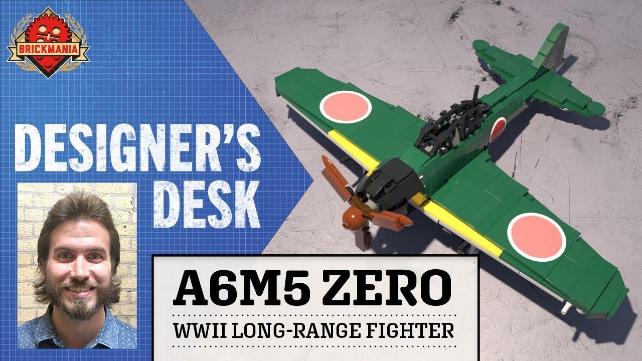 At The Designer's Desk - Cody Osell's A6M5 Zero - Custom Military Lego