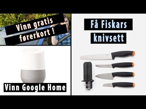 Få Fiskars knivsett / Vinn Google Home / Få gratis Dagbladet Pluss / Gratis førerkort