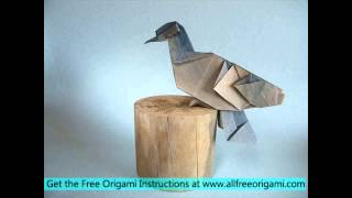How To Make An Origami Dove