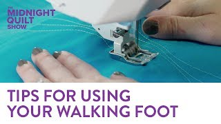 Tips & Tricks for Quilting with a Walking Foot | Midnight Quilt Show with Angela Walters Video