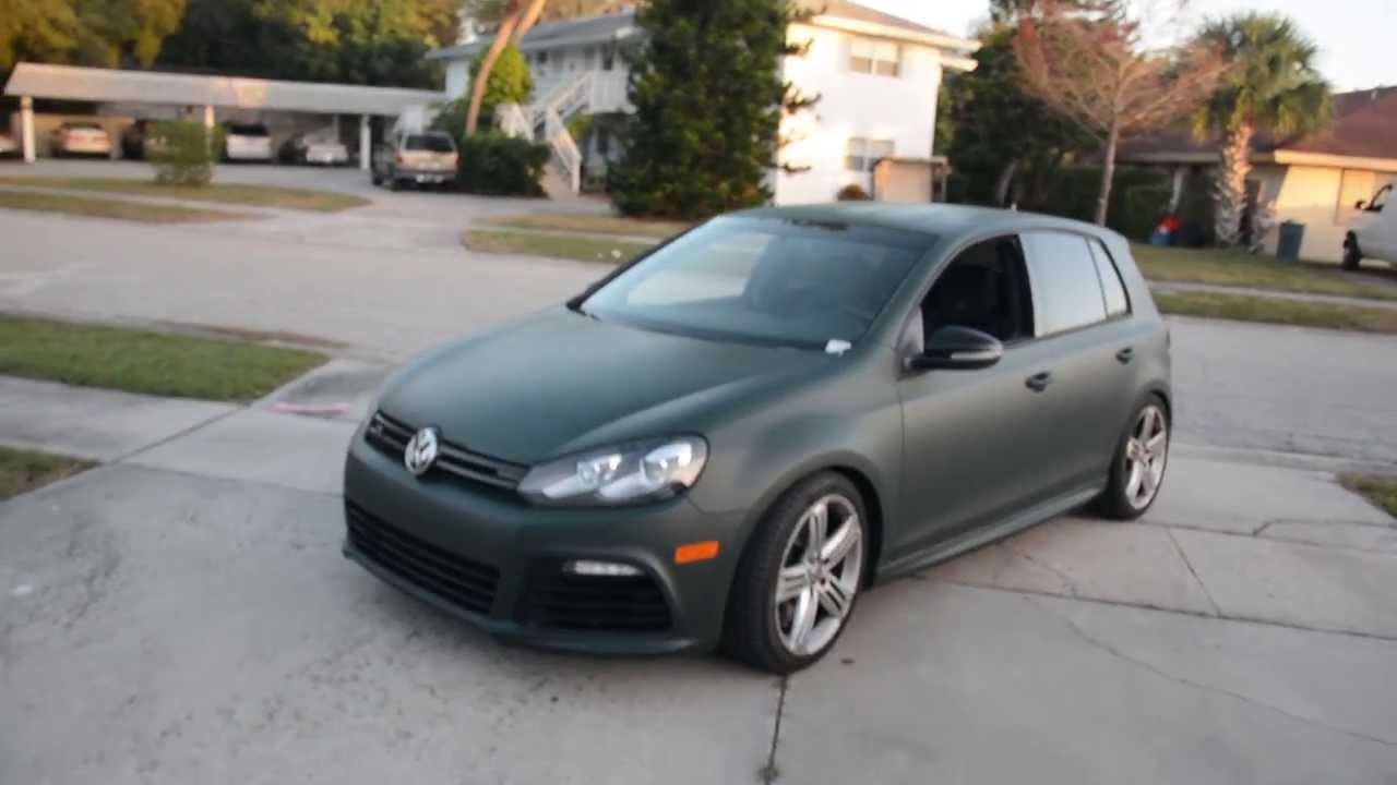 Plastidip Vw Golf R Dark Hunter Green Youtube