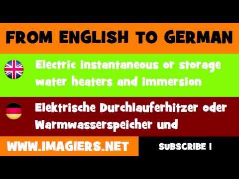DEUTSCH ENGLISCH = Elektrische Durchlauferhitzer oder ...