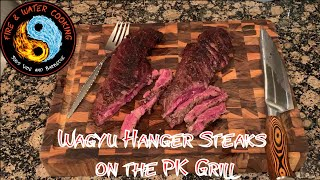 Black Wagyu Hanger Steaks From Crowd Cow Cooked on the PK Grill