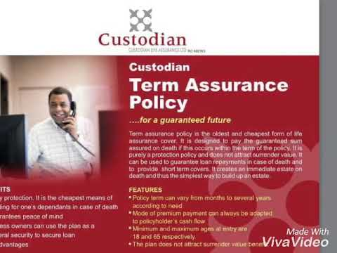 Is all about CUSTODIAN LIFE ASSURANCE LIMITED.... We exceed peoples expectations... Start by buying