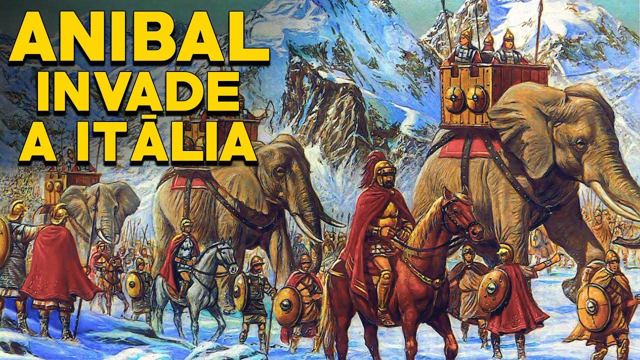 """Anibal """"O Cartaginês"""" cruza os Alpes e invade a Itália -Parte 2- História de Roma - Foca na História"""