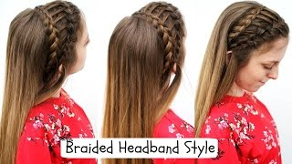 Pretty Braided Headband Style | Braided Headband | Braidsandstyles12