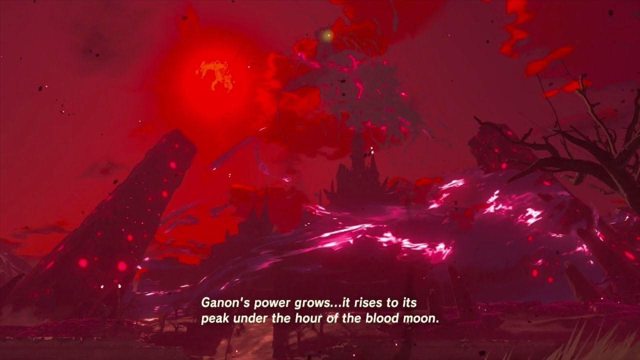 The Legend Of Zelda Breath Of The Wild Calamity Ganon And The Blood Moon Cutscene