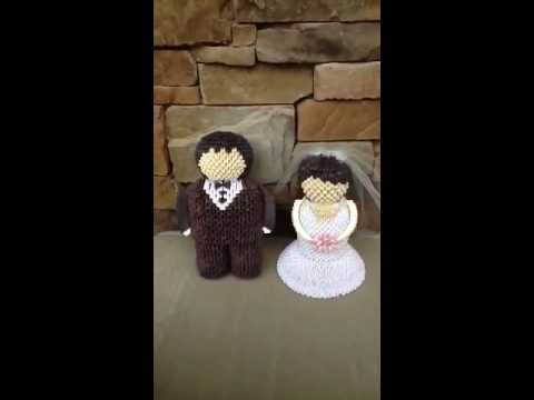 3d Origami Bride And Groom Youtube