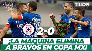 ¡Pita la Máquina! Cruz Azul elimina a Juárez en la Copa MX I Cruz Azul 2-0 FC Juárez I TUDN