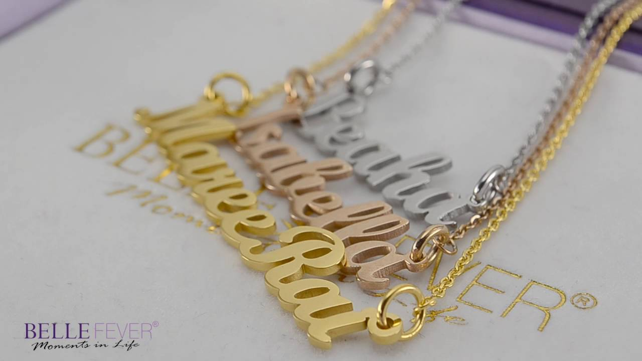 How to make a Handcrafted Name Necklace - YouTube
