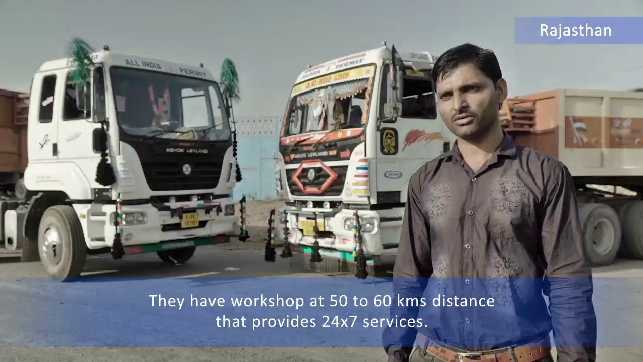Ashok Leyland Customer Testimonial Bhilwara - U4923 Tractor Trailer by  Ashok Leyland