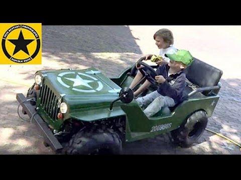 Little Boys Children Jeep Ride Jack 3 Sam 5 Maintenance Youtube