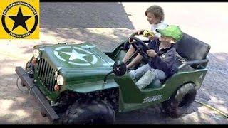 Little Boys Children JEEP-RIDE!  (Jack 3 + Sam 5) + Maintenance