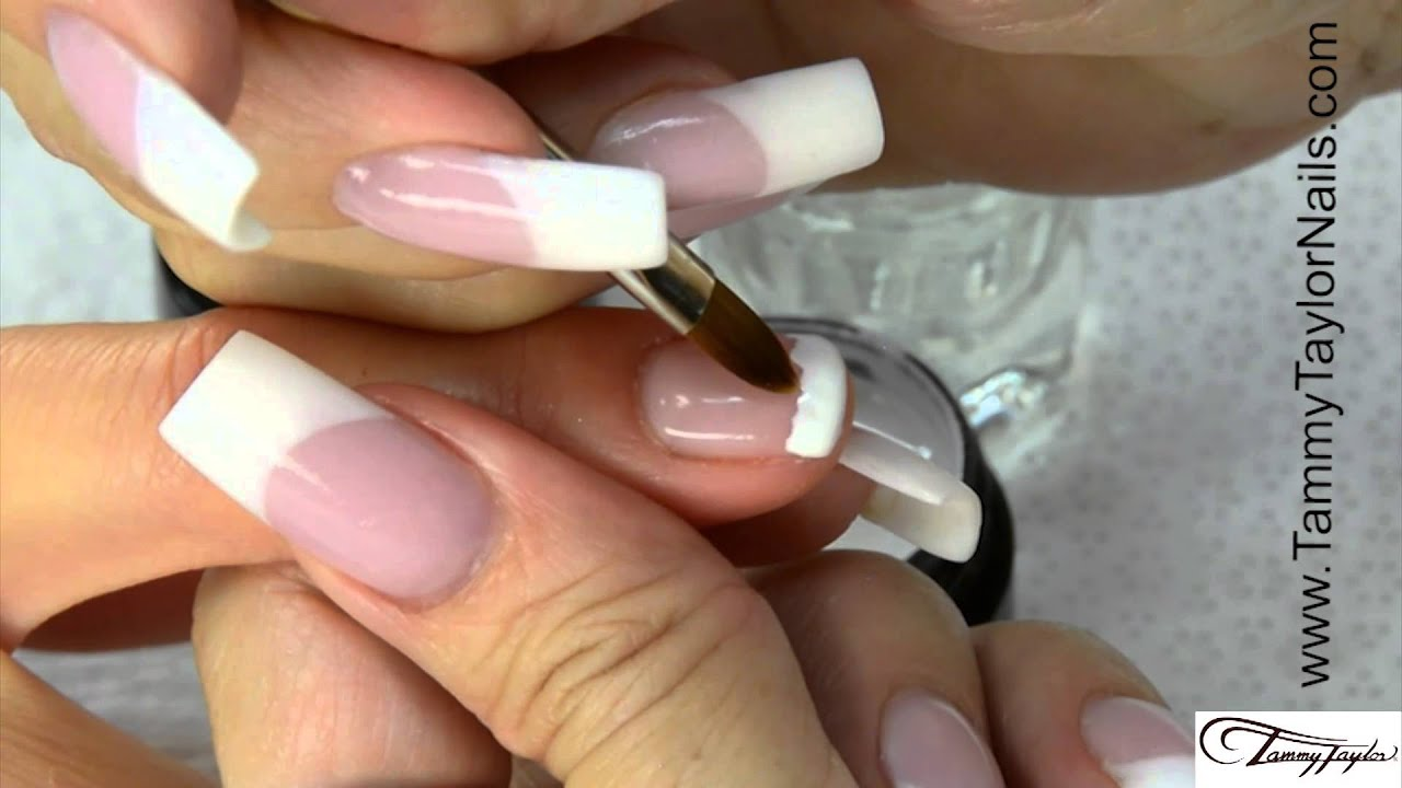 ♡ Tammy Taylor 12 Step Gel French Manicure and Fill - YouTube
