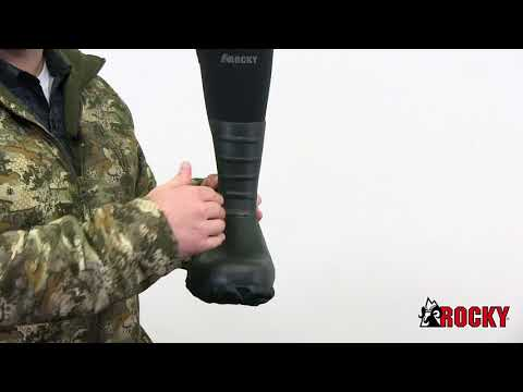 Rocky Core Black Rubber Waterproof Outdoor Boot Style# - RKS0351