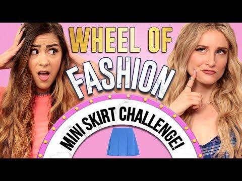 MINI SKIRT CHALLENGE?! Wheel of Fashion w/ Cassie Diamond & Caroline Tucker