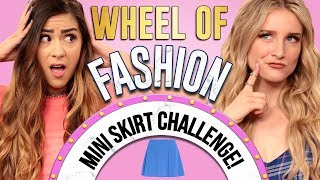 MINI SKIRT CHALLENGE?! Wheel of Fashion w/ Cassie Diamond & Caroline Tucker