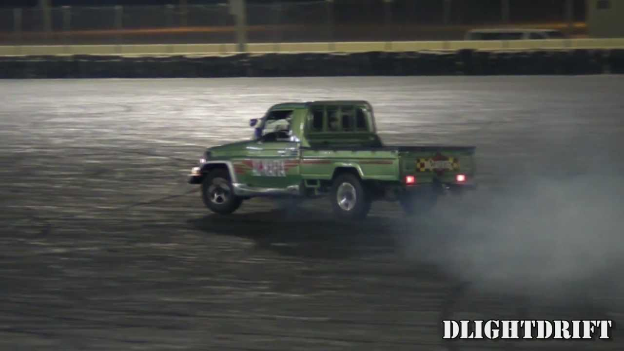 Land Cruiser Pickup Drifts At Qrc Youtube Toyota 70 Pick Up