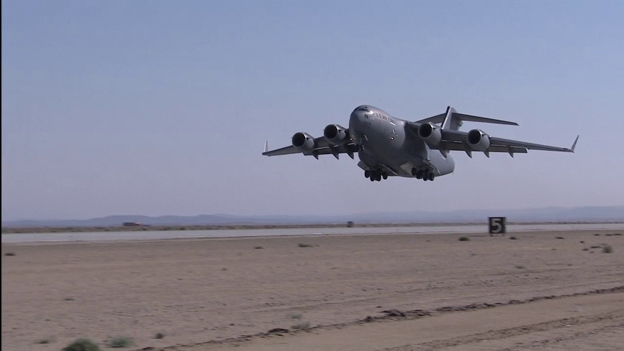 Air Force's First C-17 Flies into Retirement