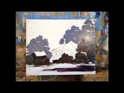 Step By Step Painting Demonstration – Painting The Old Art Gallery #MooreMethod