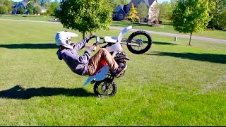 CRAZY PIT BIKE WHEELIES!