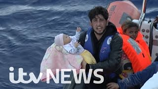 The migrant baby saved from death in the Mediterranean