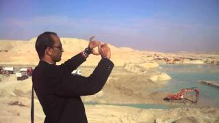 Hany Abdel-Rahman, editor of the new Suez Canal made drilling camera scenes