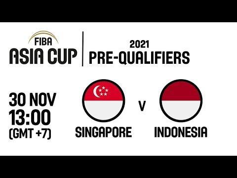Singapore v Indonesia - Full Game - FIBA Asia Cup 2021 Pre