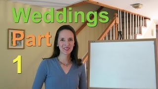Wedding Customs - English Language Notes 4 (Part 1 of 3)