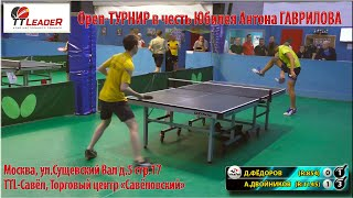 Полуфинал на турнире в честь Юбилея Антона Гаврилова Двойников - Фёдоров