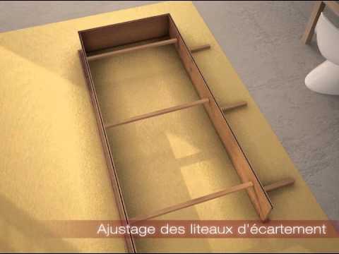 Porte ROZIERE SAS Chambranle Contre Chambranle Vidéo - Porte placard coulissante jumelé avec bricard