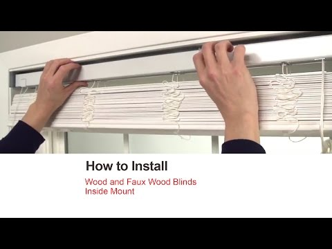 Bali Blinds | How to Install Wood and Faux Wood Blinds - Inside Mount