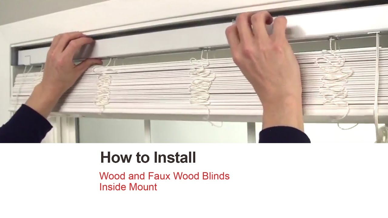 Bali Blinds How To Install Wood And Faux Wood Blinds Inside