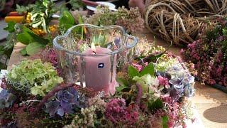 DIY - Herbstkranz mit Blüten und Beeren aus dem eigenen Garten