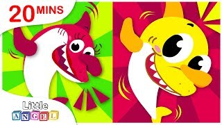 Baby Shark Learns to Tap See Pop, Yum Yum Vegetables, No No Healthy Habits by Little Angel