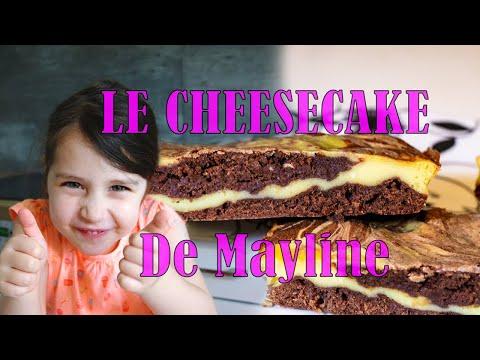 cheesecake-au-chocolat-double-saveurs-en-brownie-🎂🍫-recette-de-mayline-4-ans-❤