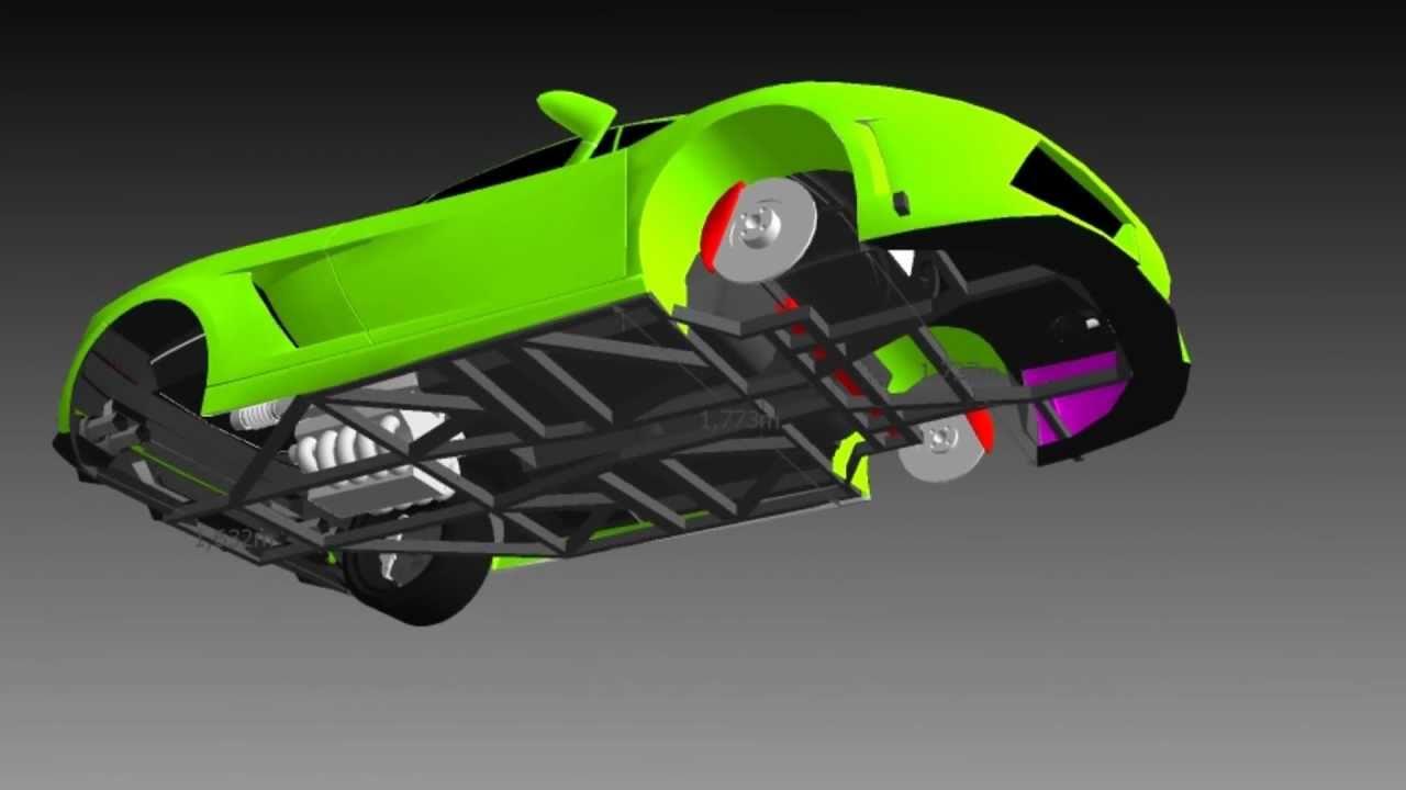 R 233 Plica Lamborghini Gallardo Chassis Youtube